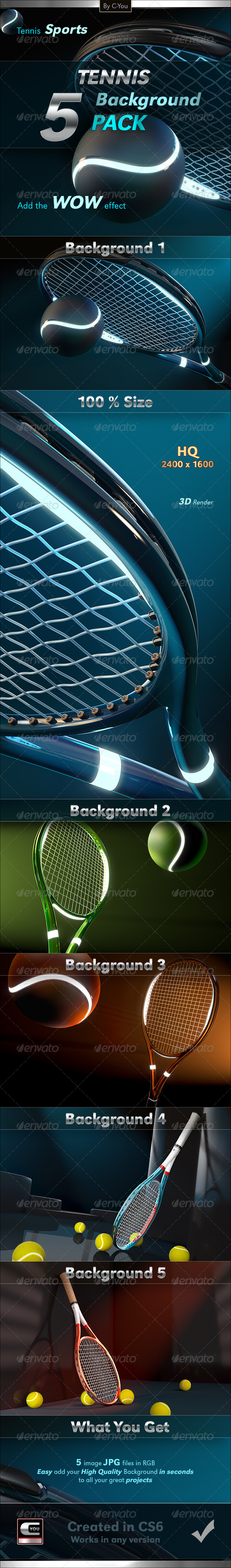 GraphicRiver Tennis Background Pack 5981037