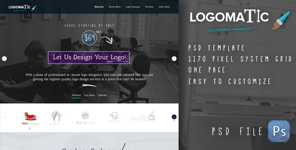 ThemeForest Logomatic Onepage PSD Template 5938032