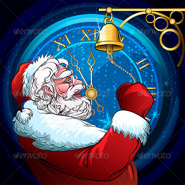 GraphicRiver The Ringing Santa Claus 5981394