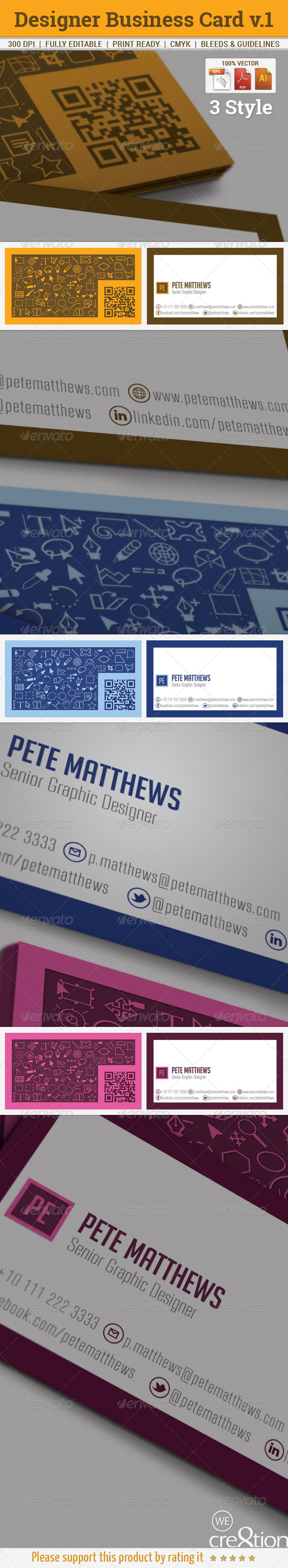 GraphicRiver Designer Business Card Vol 1 5981442