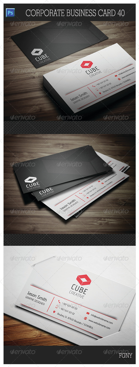 GraphicRiver Corporate Business Card 40 5981484