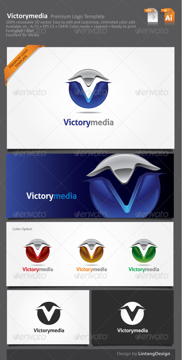 GraphicRiver 3D Vector Abstract Logo-002 5968628