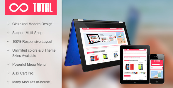 ThemeForest SM Total Multi Store Responsive Magento Theme 5982020
