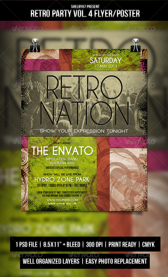 GraphicRiver Retro Party Flyer Poster Vol.4 5982027