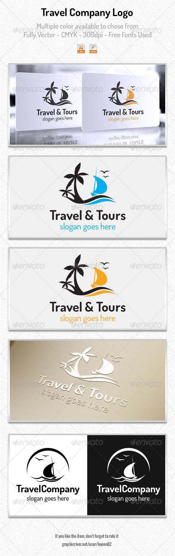 GraphicRiver Travel Company Logo 5982206