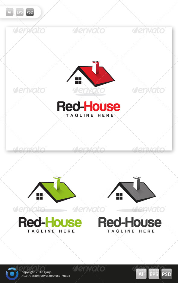 GraphicRiver Red House Logo 5982220