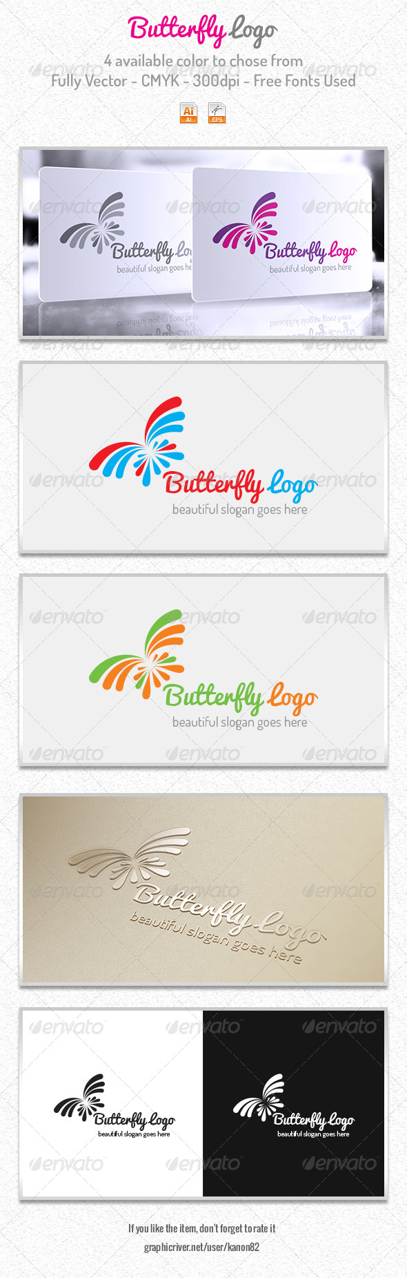 GraphicRiver Butterfly Logo 5982257
