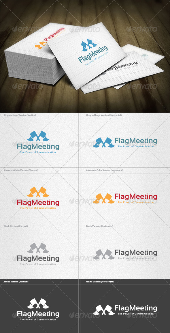 GraphicRiver Flag Meeting Logo 5982284