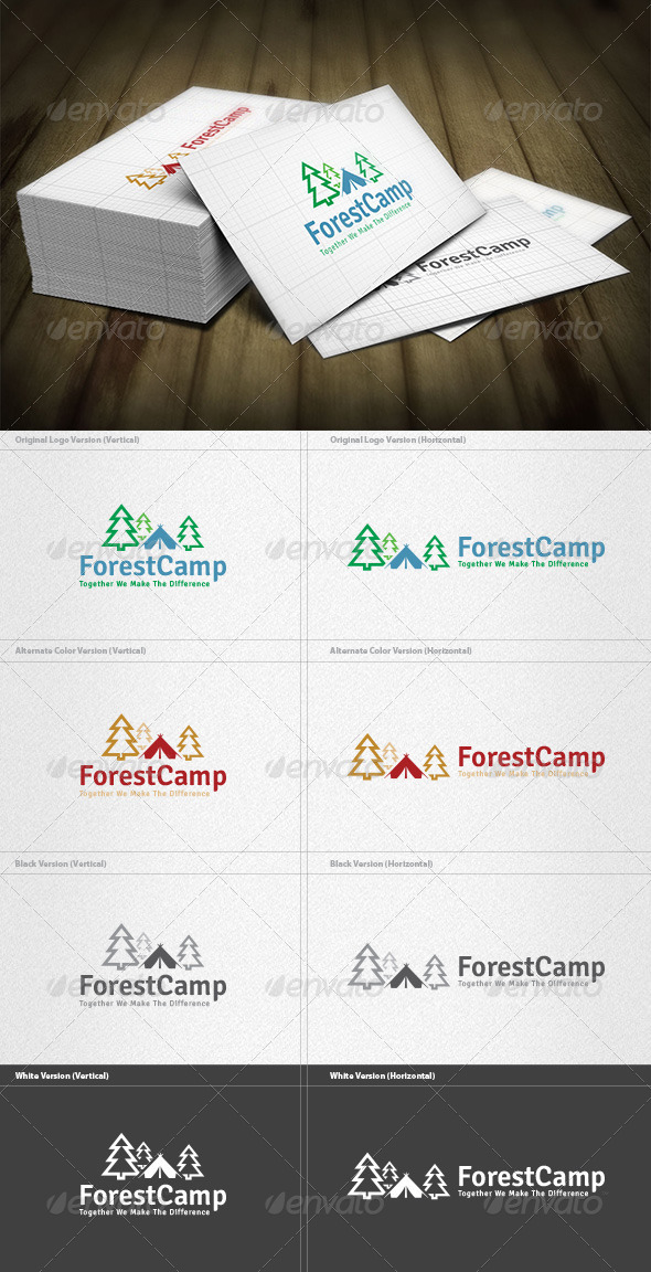 GraphicRiver Forest Camp Logo 5982291