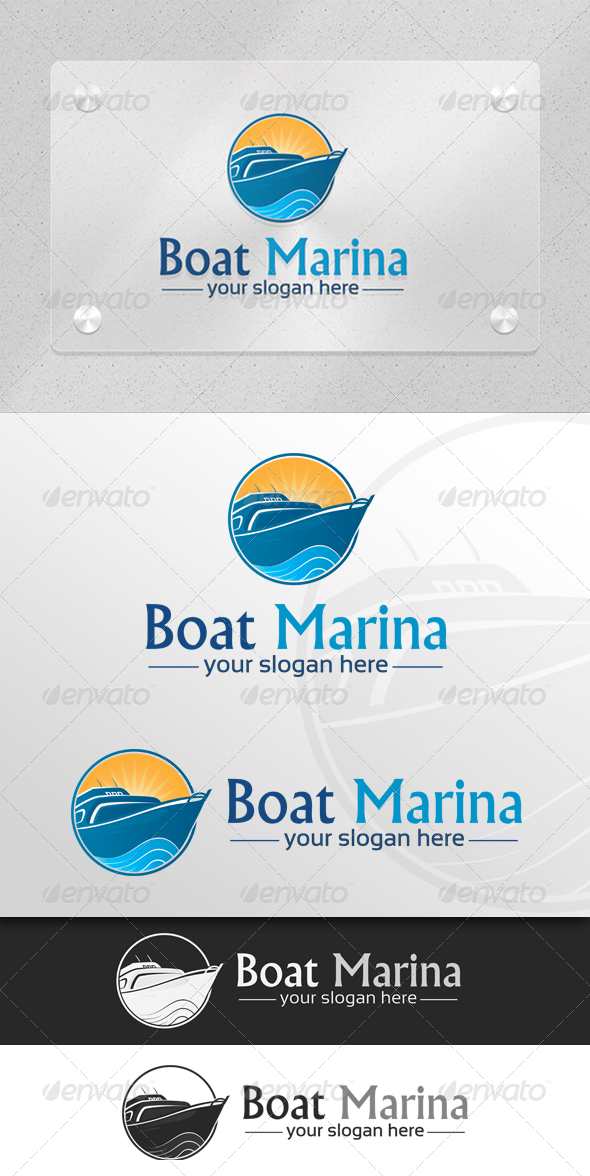 GraphicRiver Boat Marina Marine & Transport Logo 5982329