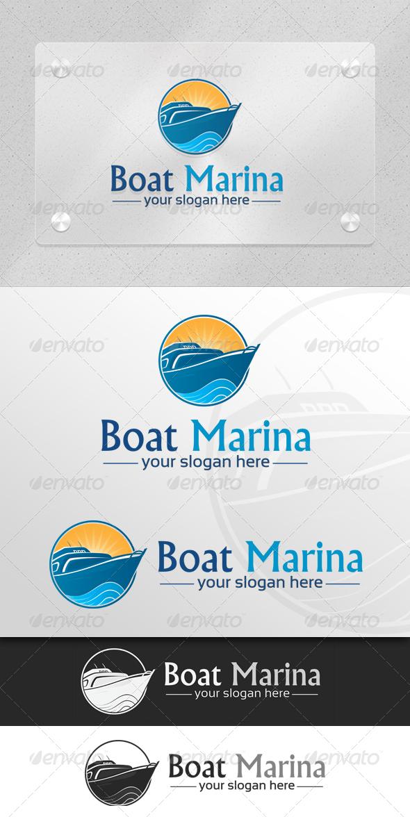 Boat Marina Marine & Transport Logo