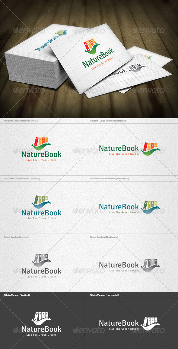 GraphicRiver Nature Book Logo 5982330