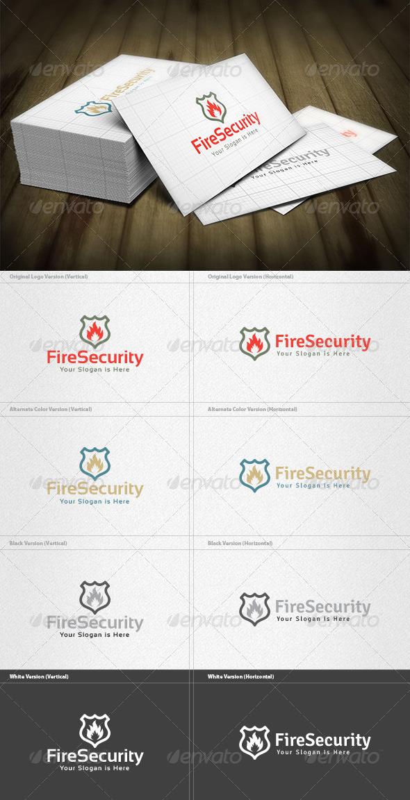 GraphicRiver Fire Security Logo 5982376