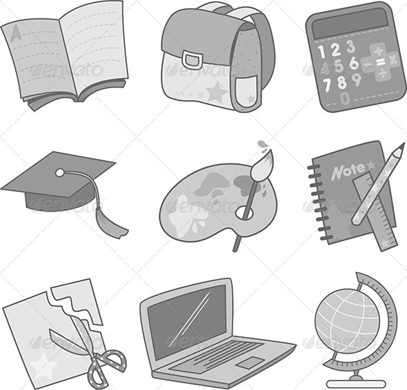GraphicRiver Education Icons 5982532
