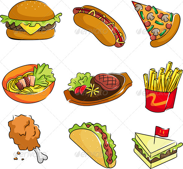 GraphicRiver Fast Food Icons 5982534