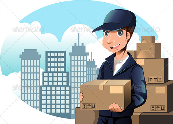 GraphicRiver Delivery Man 5982606