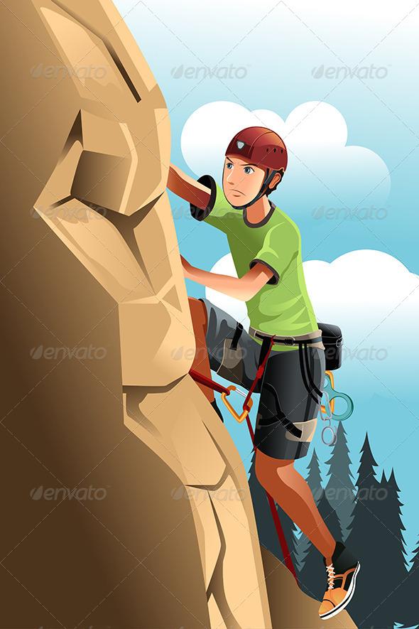 GraphicRiver Rock Climber 5982624