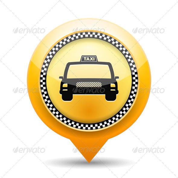 GraphicRiver Taxi Icon 5982726