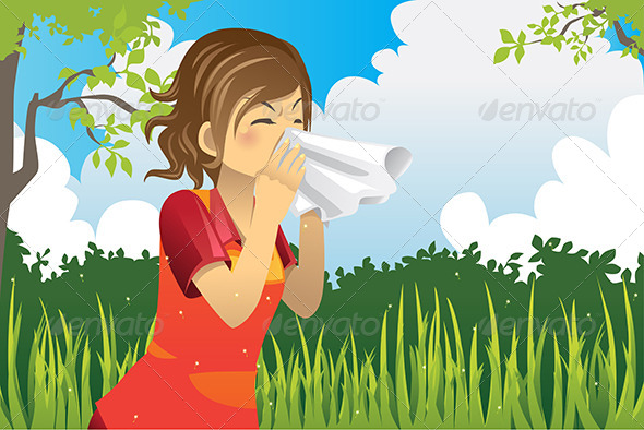 GraphicRiver Sneezing Woman 5982749