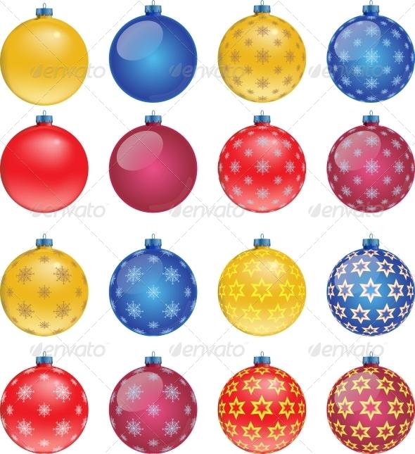 GraphicRiver Set of Colorful Christmas Balls 5982784