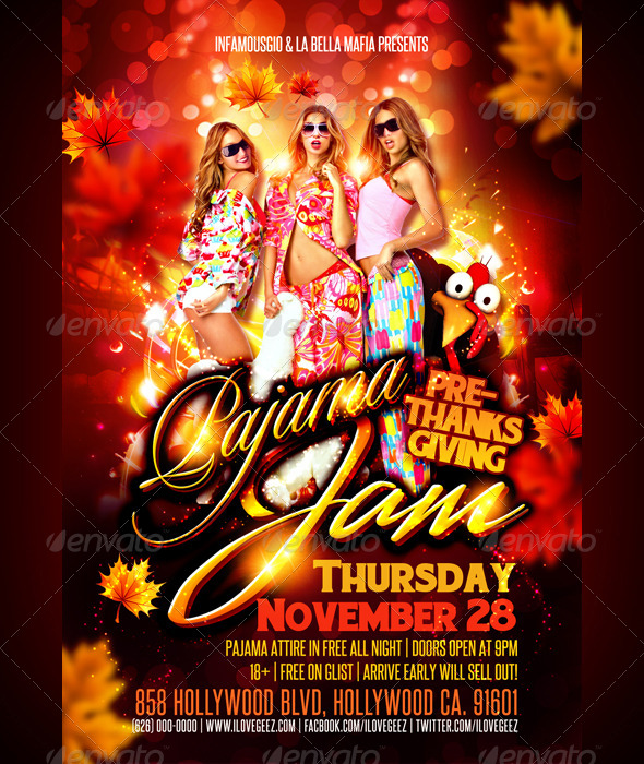 GraphicRiver Pre-Thanksgiving Pajama Jam 5959441