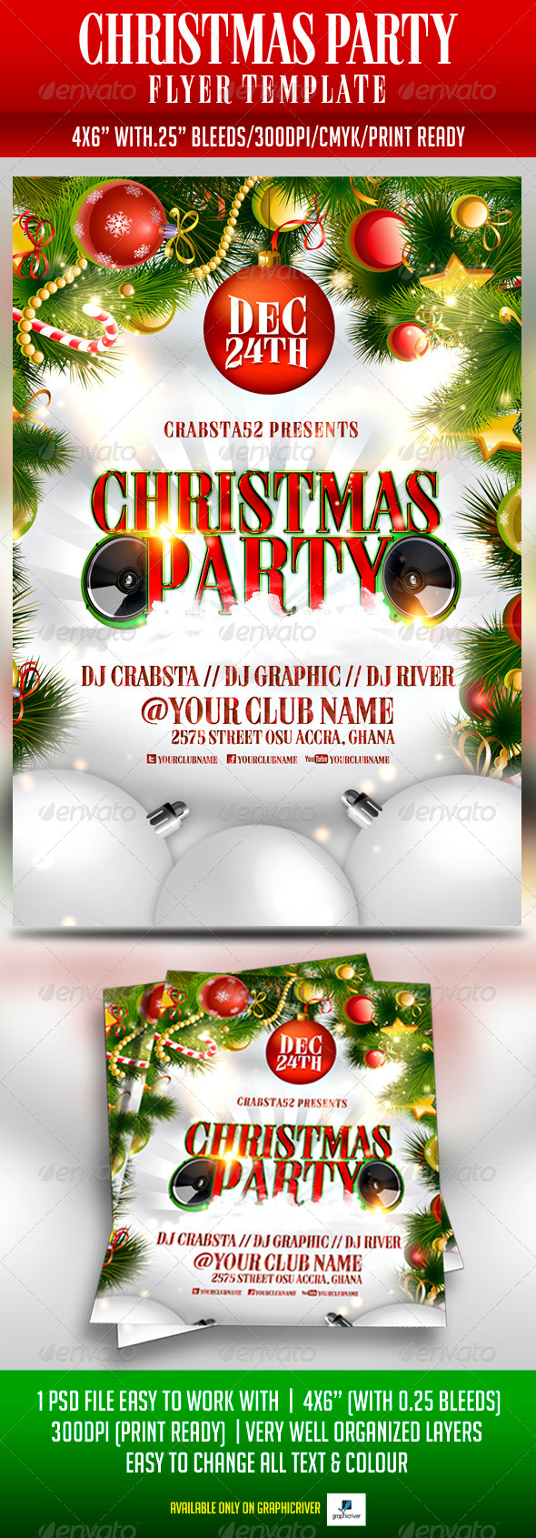 GraphicRiver Christmas Party Flyer Template 5983122