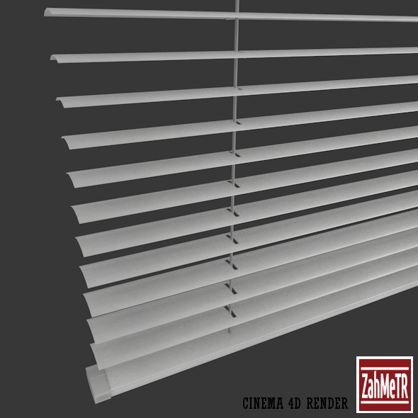 3DOcean Venetian Window Blind Low Poly Fully Quad 5983655