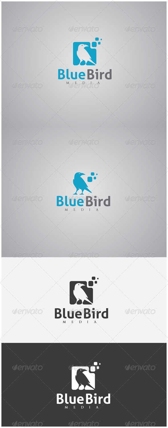 GraphicRiver Blue Bird Media Logo 5983737