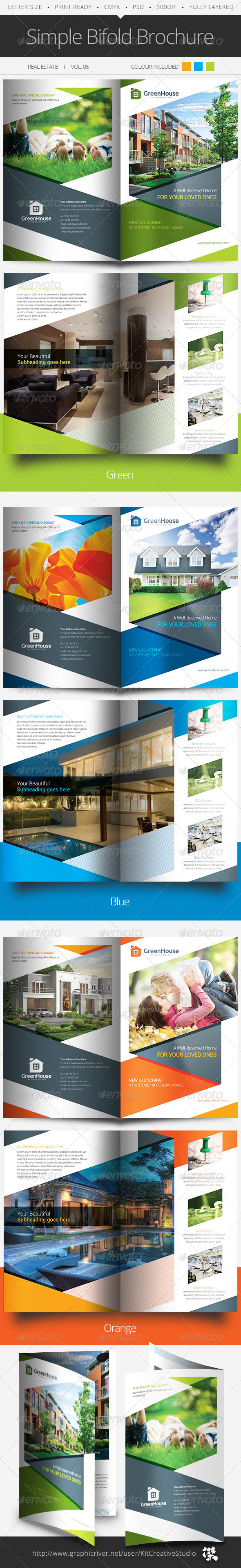 GraphicRiver Simple Bifold Brochure Vol.05 5984057