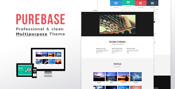 Purebase - Multipurpose Muse Template - Corporate Muse Templates