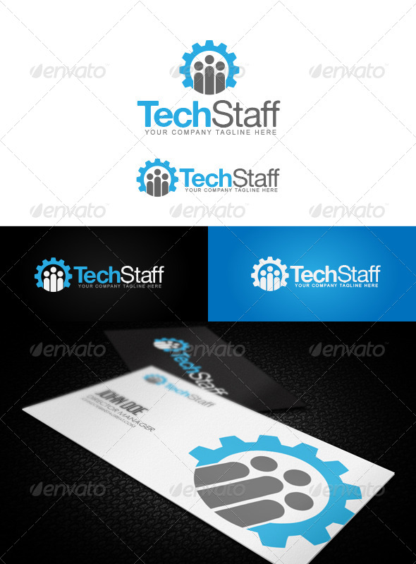 GraphicRiver Tech Staff Logo 5984119