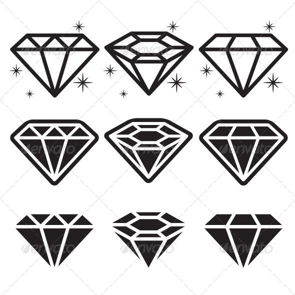 GraphicRiver Diamond Icons Set 5984122