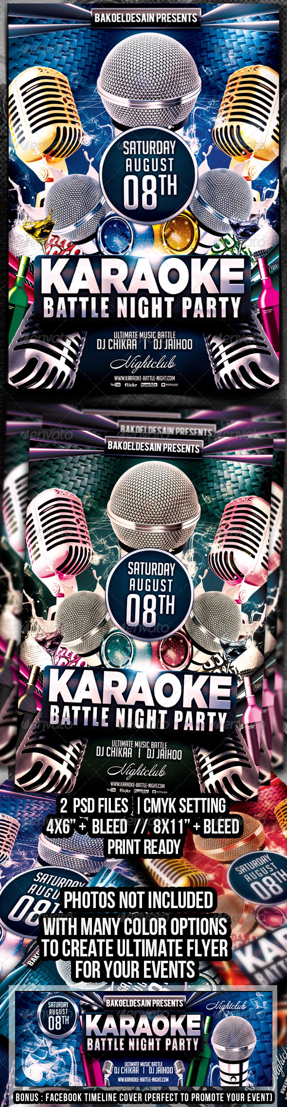 GraphicRiver Karaoke Battle Night Party Flyer 5984372