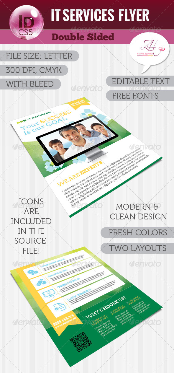 GraphicRiver IT Services Flyer Double Sided 5984440