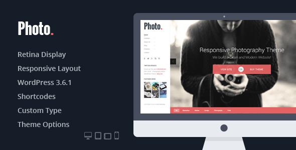 ThemeForest Photo Responsive Photography WordPress Theme 5946625