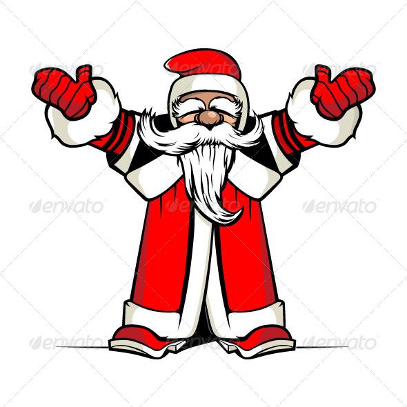 GraphicRiver Santa Hands Up 5984604