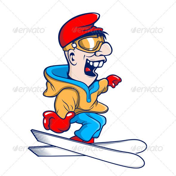 GraphicRiver Ski Cartoon Character 5984611