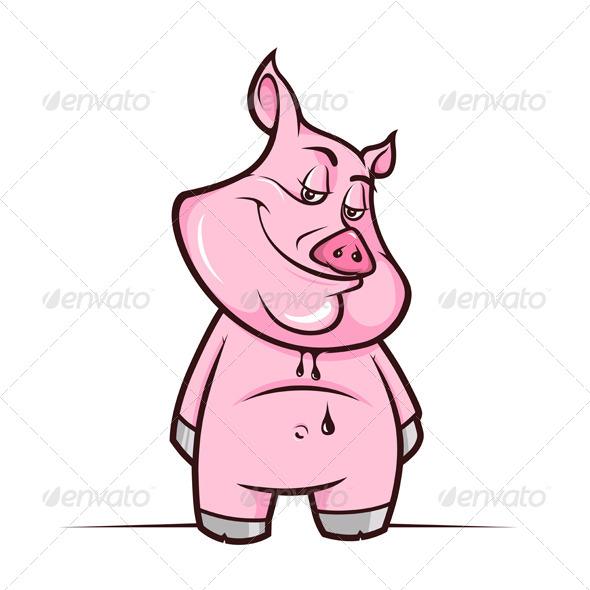 GraphicRiver Cartoon Piggy 5984833