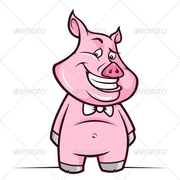 Cartoon Piggy Smiling