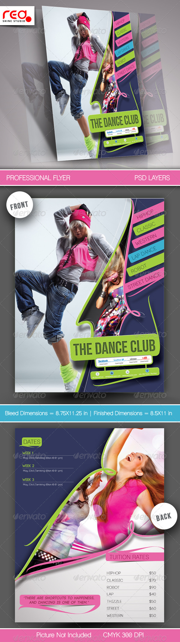 GraphicRiver Dance Academy Flyer & Poster Template 2 5985154