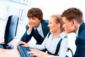 Three young successful businesspeople. Screen has a clipping path. - PhotoDune Item for Sale