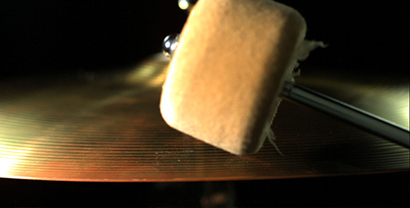 Cymbal Being Hit