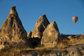 Hot Air Ballons Flying Over Cappadocia Rocks Turkey - PhotoDune Item for Sale