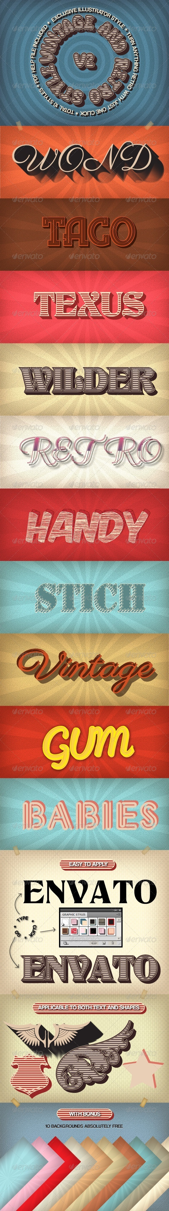 GraphicRiver Vintage and Retro Styles V2 5986624
