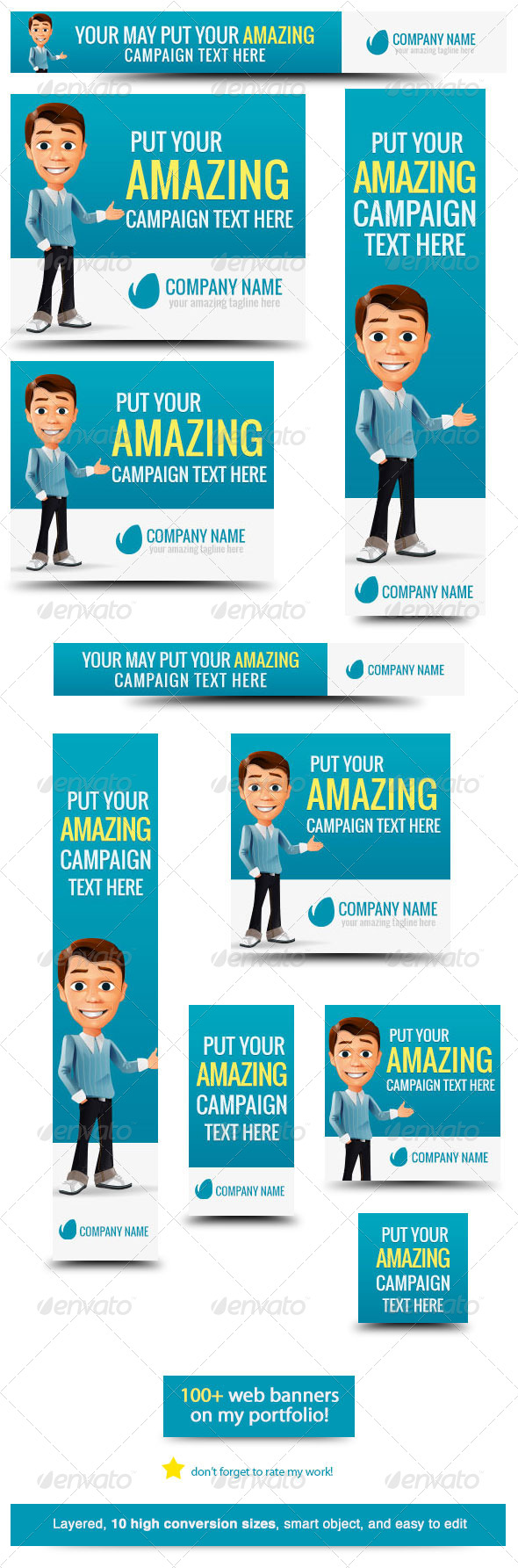 GraphicRiver Business Cartoon Web Banner 5986745
