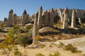 Stone  Monuments in Love Valley of Cappadocia Turkey - PhotoDune Item for Sale