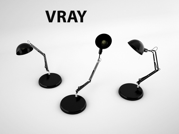Table Lamp With IK Solver Ready for Animation