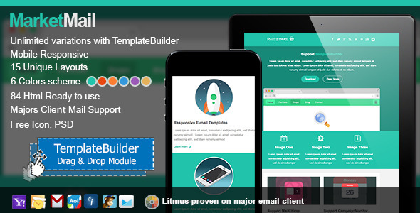 ThemeForest Market Responsive E-mail With Templates Builder 5986782