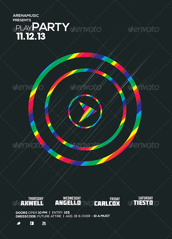 GraphicRiver Play Flyer Template 5986797