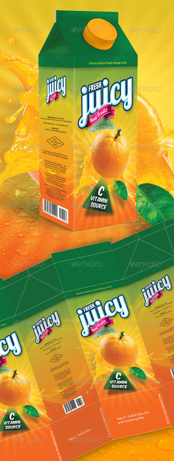GraphicRiver Orange Juice Box 5986799